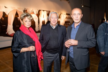Collectors Elena and Mark Zilberquit and Shalva Breus